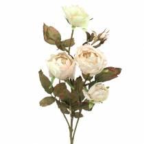 Ramo di rosa artificiale crema bianco 76 cm
