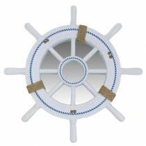 Decorazione nautica Timone Bianco Ø40cm