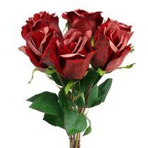 Velluto rosa rossa Ø8cm L45cm 6 pezzi