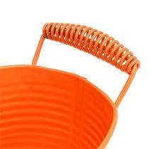Ciotola ovale arancione 20 cm x 12 cm H9 cm