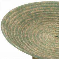 Ciotola con piede, ciotola decorativa, vaso in metallo, aspetto antico, Ø26cm H12cm