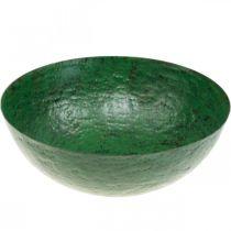Ciotola decorativa ciotola per fioriera in metallo verde vintage Ø31cm