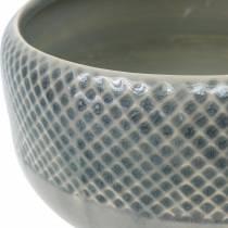 Vaso in ceramica, ciotola con motivo a cesto, vaso per piante di Ø18 cm circa