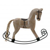 Cavallo a dondolo bianco 17 cm x 22 cm