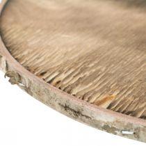 Disco decorativo in legno fiammato Decoro rustico in legno compensato Ø20cm