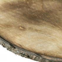 Sottobicchiere fiammato disco decorativo legno compensato rustico Ø25cm
