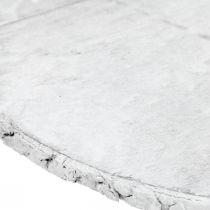 Disco decorativo in legno con sottobicchiere corteccia bianco in compensato Ø20cm