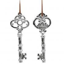 Chiave d'argento per appendere 15,5 cm 2 pezzi