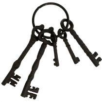 Portachiavi con anello in metallo marrone 7 cm - 15,5 cm