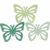 Spolverare farfalle decorative, primavera, farfalle in legno, decorazione da tavola per spolverare 72 pezzi