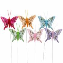 Farfalla decorativa con filo 5cm 24 pezzi ordinati