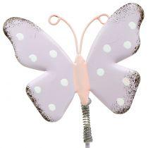 Spina fiore pastello farfalla 24 cm 12 pezzi