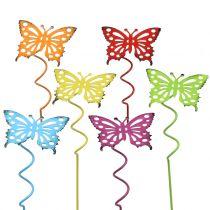 Spina fiore farfalla colorata 22 cm 12 pezzi