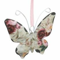 Farfalla da appendere in metallo appendiabiti decorazione 7cm decorazione primaverile 12 pezzi