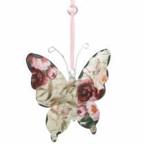 Farfalla da appendere in metallo decorazione appendiabiti 9cm decorazione primaverile 6 pezzi