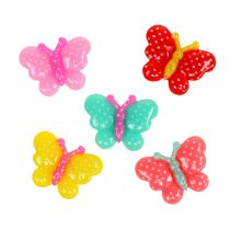 Farfalle Mini 2 cm multicolore 24 pezzi