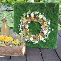 Decorazione farfalla, decorazione primaverile da appendere, anello corona, patina Ø30cm 2pz