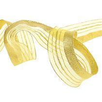 Nastro decorativo con striscia lurex oro 40mm 20m