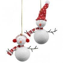 Addobbi per albero di Natale pupazzo di neve da appendere in metallo 8,5 / 13cm 4 pezzi