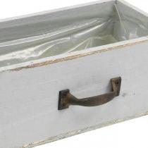 Fioriera cassetto in legno Shabby Chic grigio 25x13x9cm