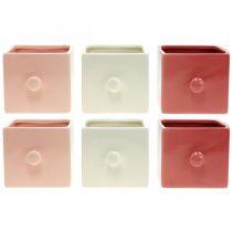 Cassetto per piante, cassetto decorativo, vaso in ceramica, fioriera 6 pezzi