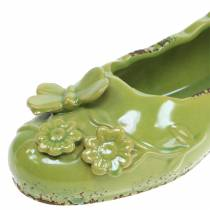Scarpa da fioriera da donna in ceramica verde 24cm