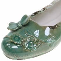 Scarpa da fioriera da donna in ceramica di petrolio 24 cm