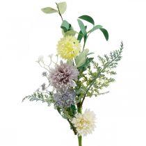 Fiori di seta in mazzo, decorazioni estive, crisantemi e cardi sferici, fiori artificiali L50cm