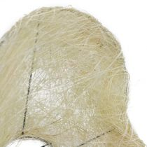 Polsino in sisal cuore sbiancato 27 cm 1pz
