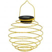 Lampada da giardino solare gialla 22 cm con 25 LED bianco caldo