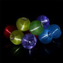 Lampionkette solare LED colorato 4,5m 10 lampadine bianco freddo