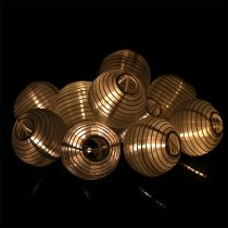 Catena di lanterne solari LED 4,5m bianco 10 lampadine