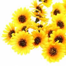 Teste di girasole decorative sparse giallo Ø3,3cm 100p