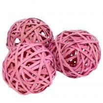 Truciolare Rosa Ø6cm 6 pezzi