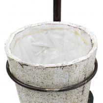 Vanga decorativa da appendere con vaso 57,5cm