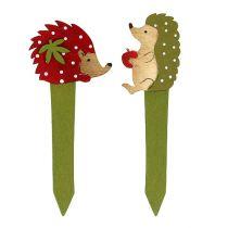 Spina riccio rosso, verde 13cm 16 pezzi