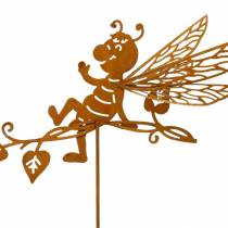 Spina da giardino ruggine ape 34,5 × 14 cm decorazione da giardino in metallo 4 pezzi