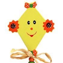 Spina fiore Drago giallo L31cm 4 pezzi