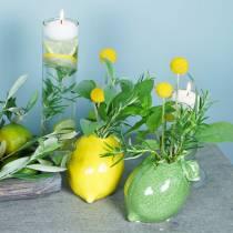 Vaso in gres verde lime 10 cm
