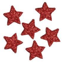 Star glitter 1,5cm per spalmare 144 pezzi rossi