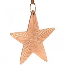 Ciondolo stella, decorazione natalizia, decorazione in metallo color rame 9,5 × 9,5 cm 3 pezzi