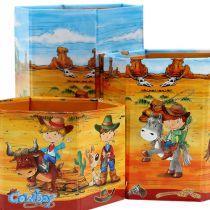 Set porta penne con motivo cowboy H 6-12 cm