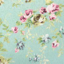 Tessuto decorativo fiori verdi 30 cm x 3 m