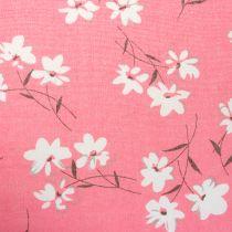 Tessuto decorativo fiori rosa 30 cm x 3 m