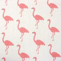Tessuto Decò Flamingo Bianco-Rosa 30cm x 3m
