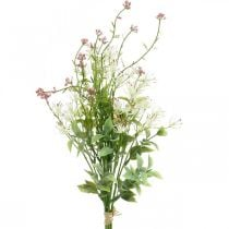 Bouquet di primavera artificiale bouquet artificiale rosa, bianco, verde H43cm
