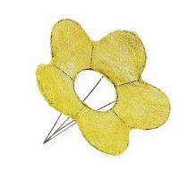 Polsino in sisal giallo Ø20cm polsino fiore 8 pezzi