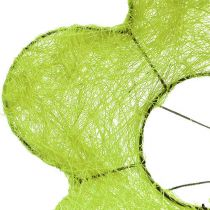 Polsino in sisal Fiore verde Ø25cm 6 pezzi