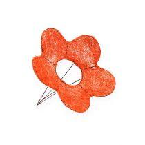 Polsini fiore di sisal arancione Ø15cm 10 pezzi
