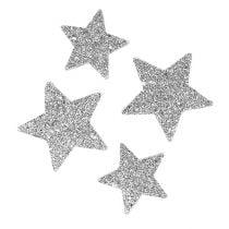 Stelle per sparpagliare la specie d'argento. 4-5 cm 40 p